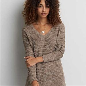 AEO VNECK textured sweater